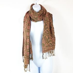 Fall Colors, Tasseled,  Multi Wear Scarf/Wrap